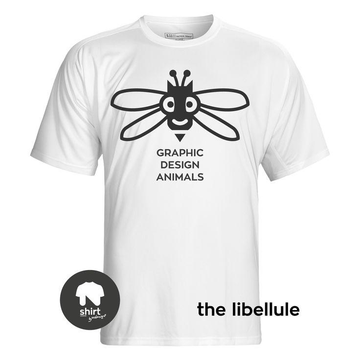 Graphic Design Animals T-Shirt Series, The Libellule #T-shirt #design #graphic_design by George Nikolaidis