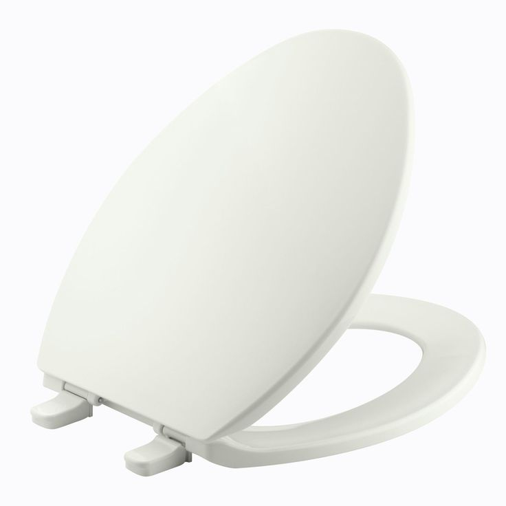 Brevia with Quick-Release Hinges Elongated Toilet Seat