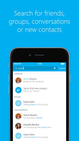 Skype for iPhone by Skype Communications S.a.r.l - Introducing the brand new Skype for iPhone – simpler than ever with an even more powerful search.  Stay in touch with free video calls, voice calls and messaging on Skype.