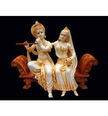 Radha Krishna Siting In Singhasan Ivare @ Rs 4200/- http://www.krafthub.com/idols/statues/radha-krishna-siting-in-singhasan-ivare.html