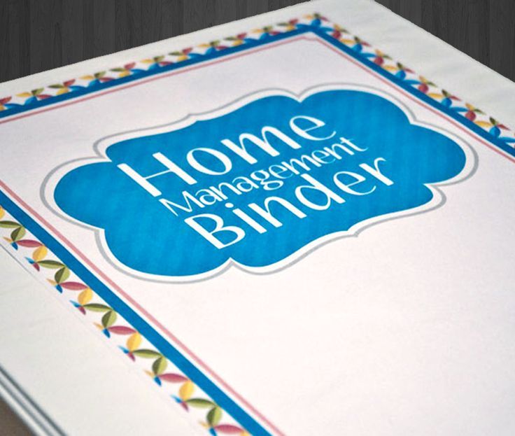 Vibrant looking home management binder.  Everything you need to get your binder started.