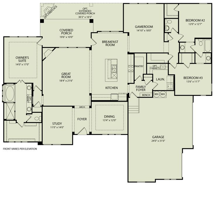 Conner 125 drees homes interactive floor plans custom for Custom house floor plans
