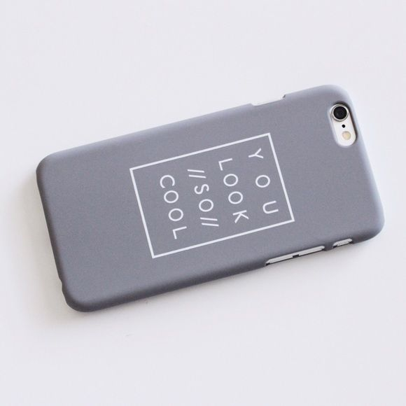 "{iPhone} | ""Cool"" Phone Case ➳ Item Description: This is a sleek and matte feel phone case. It has a cute tumblr aesthetic print on it. It says ""You Look //So// Cool""! Inspired by The 1975. Does NOT cover the front fully.   ➳ Item Details: Color: Grey Available Sizes: iPhone 6 PLUS/6s PLUS  The price is firm, but will be discounted through bundles.  Please consider that the colors you see on your device will probably not look the same in person! This is ONLY the case. It does not come with a…"