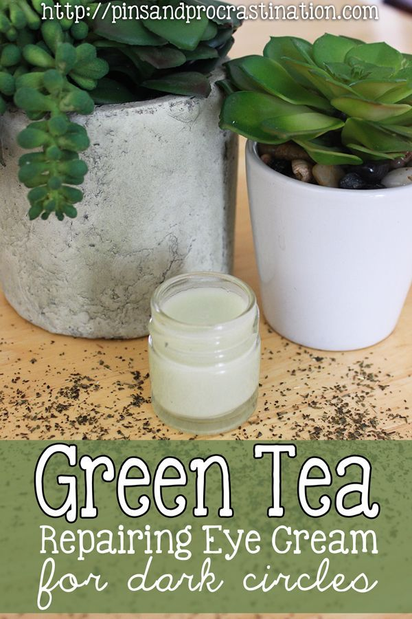 Green Tea Repairing Eye Cream for Dark Circles  You can also use mango butter in this recipe.
