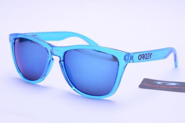 Oakley Frogskins Sunglasses Blue Frame Colorful Lens 0405