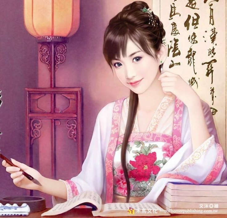 Painting of beautiful Chinese girl~