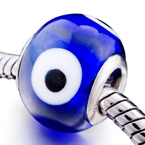 749587f49 ... Pugster Navy Blue Evil Eye Glass Bead Fit Pandora Chamilia Biagi Charms  Bracelet 6.29 bestseller ...