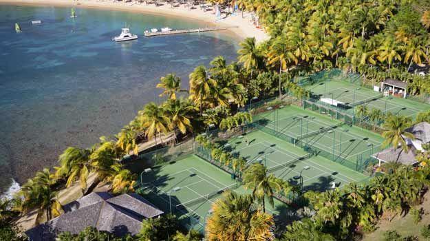 Curtain Bluff Tennis Courts