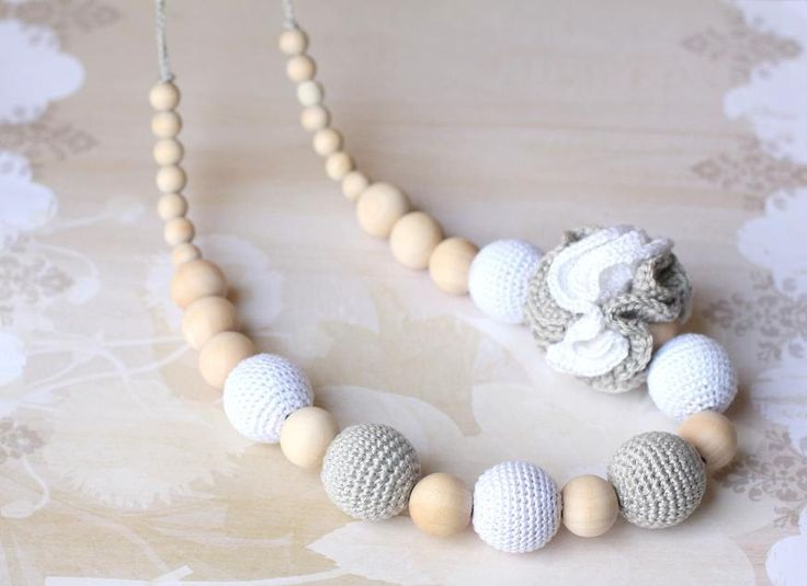 Crochet+cotton+Nursing+necklace+Fashion+Accessory+by+ForeverValues,+$29.00