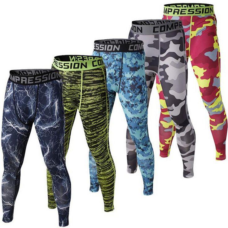 Mens Compression Pantalon 2016 Nouveau Crossfit Collants Hommes Musculation Pantalon Pantalon Camouflage Joggeurs