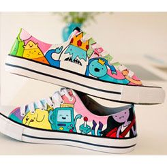 Adventure Time Shoes Custom Jack and Finn on High Top Anime Shoe