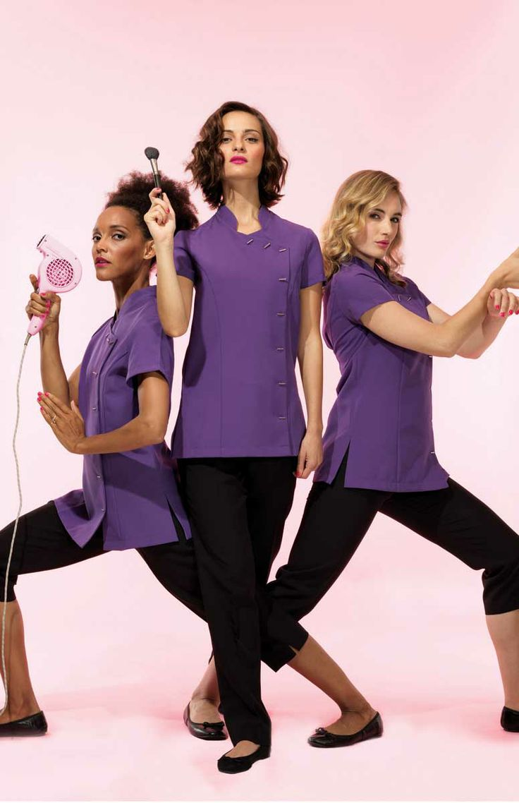 Give your staff a makeover with this fantastic capsule collection of salon tunics for the beauty and spa industry.
