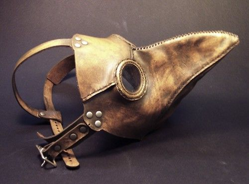 Worn during the middle ages, the beak was thought to protect the doctor from the plague.