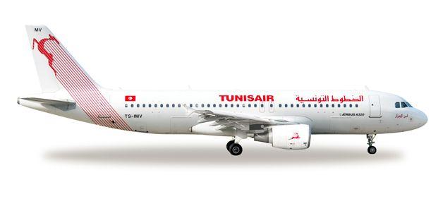 1/500 Herpa Tunisair Airbus A320-200 Diecast Model
