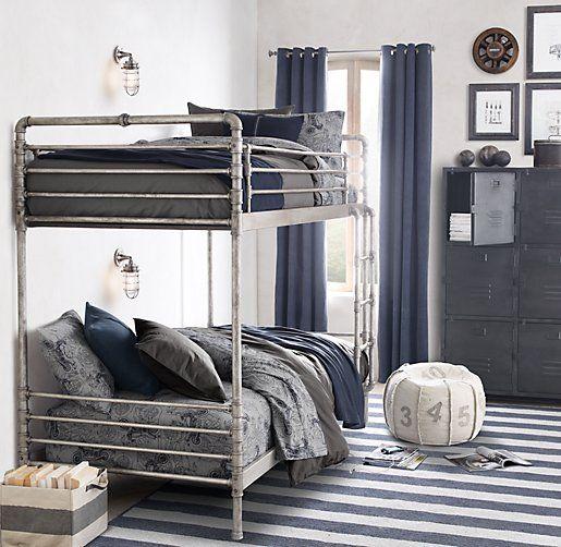 kuhles moderne und gemuetliche schlafzimmereinrichtungen mit luxusbetten frisch images und aefcfaceb pipe bed restoration hardware baby