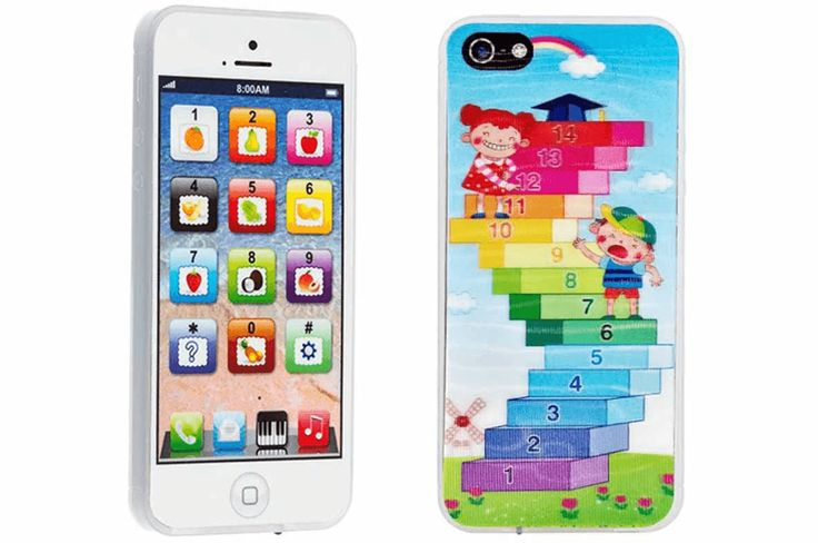Kids toy phone with interactive buttons and lights - $12. Great for little ones who loves their mommy's phone!