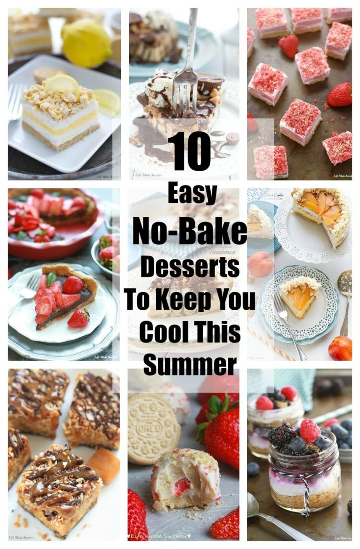 1000 images about easy few ingredients some no bake on for Easy no bake dessert recipes with few ingredients