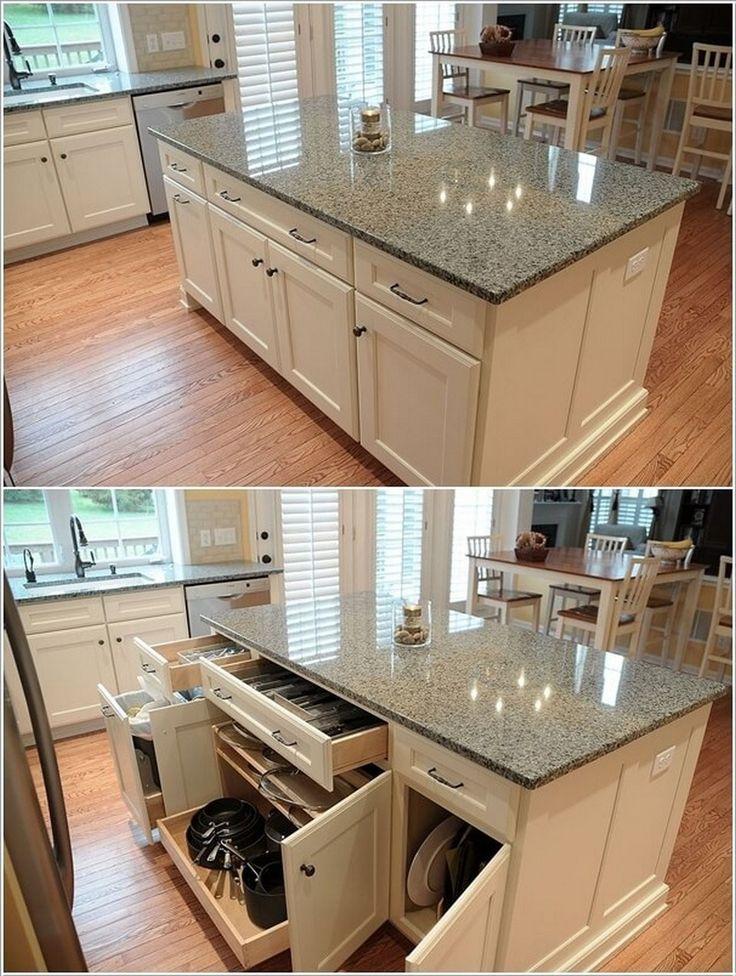 42 best best l shaped kitchen designs images on pinterest for Small kitchen hacks