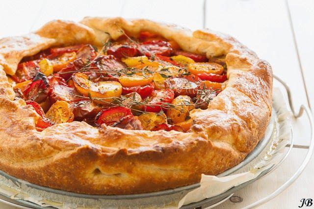Crostata met tomaten