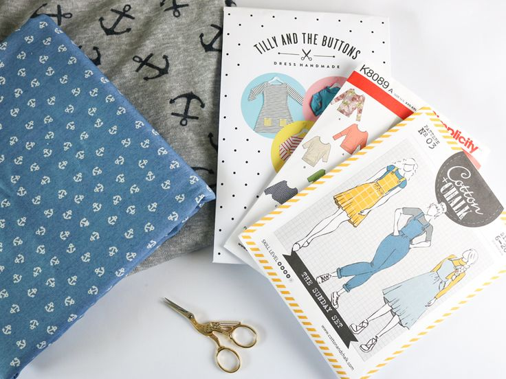 "Pattern picks from the June ""Anchors Away"" SewHayleyJane sewing subscription box"