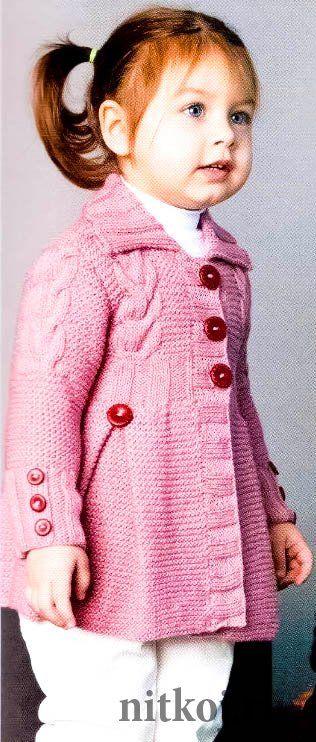 Вязаное пальто для девочки     | <br/>    Knitted