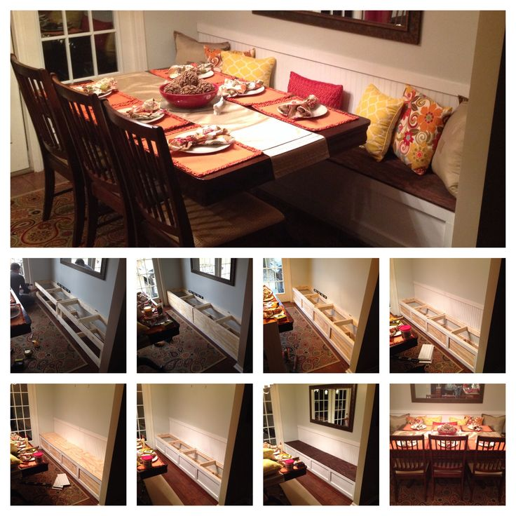 DIY Breakfast Nook Banquette Small Dining Room IdeasTotal Cost 100