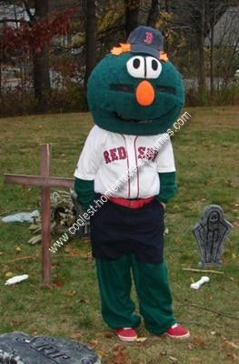 Coolest Homemade Wally The Green Monster Red Sox Mascot