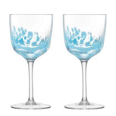 LSA Chalk Wine Glass Set - Sky Blue #podpastels