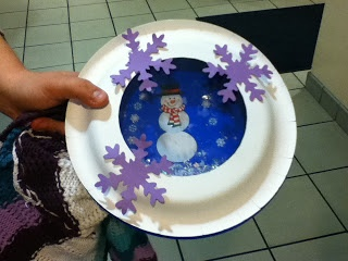 Craft: Snowball Snowglobe-great to use with our snow globe stories.