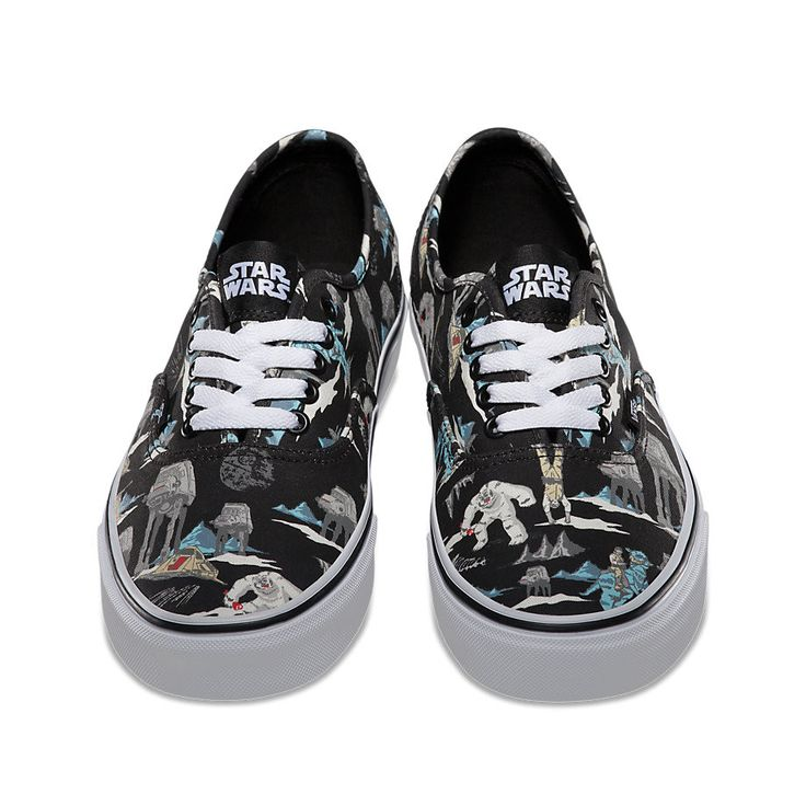 mens vans black & green authentic star wars trainers nz