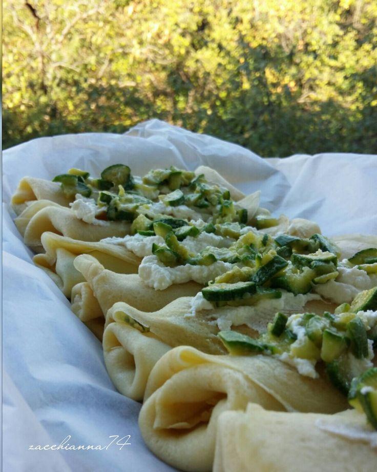 Crepes ricotta e zucchine...