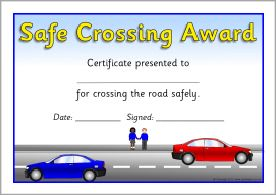 Road safety award certificates (SB5166) - SparkleBox