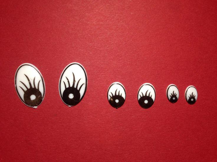 Ojos blancos accesorios para tus muñecos doll eyes hecho a mano osos muñecas marionetas animales peluche diferentes tamaños pack 50 par/lote de YBatchi en Etsy
