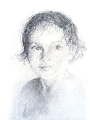 HANDMADE by Ki: (1) portret dziecka
