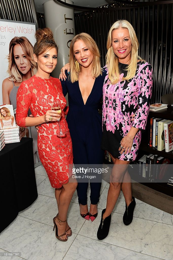 Cheryl Cole, Kimberley Walsh and Denise Van Outen attend the launch party for Kimerley Walsh 'A Whole Lot Of History' at Hotel ME on September 23, 2013 in London, England.