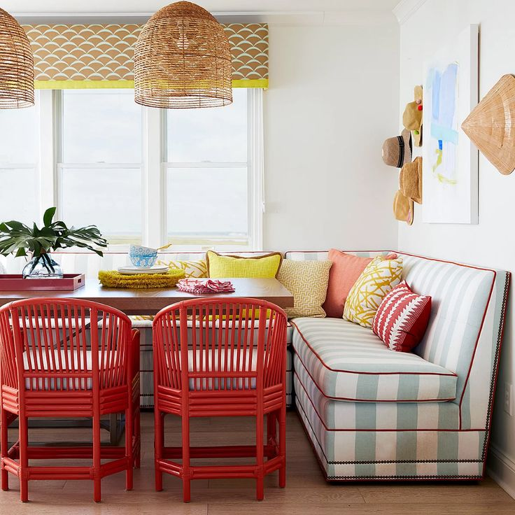Banquette benches with storage in 2020 dining room