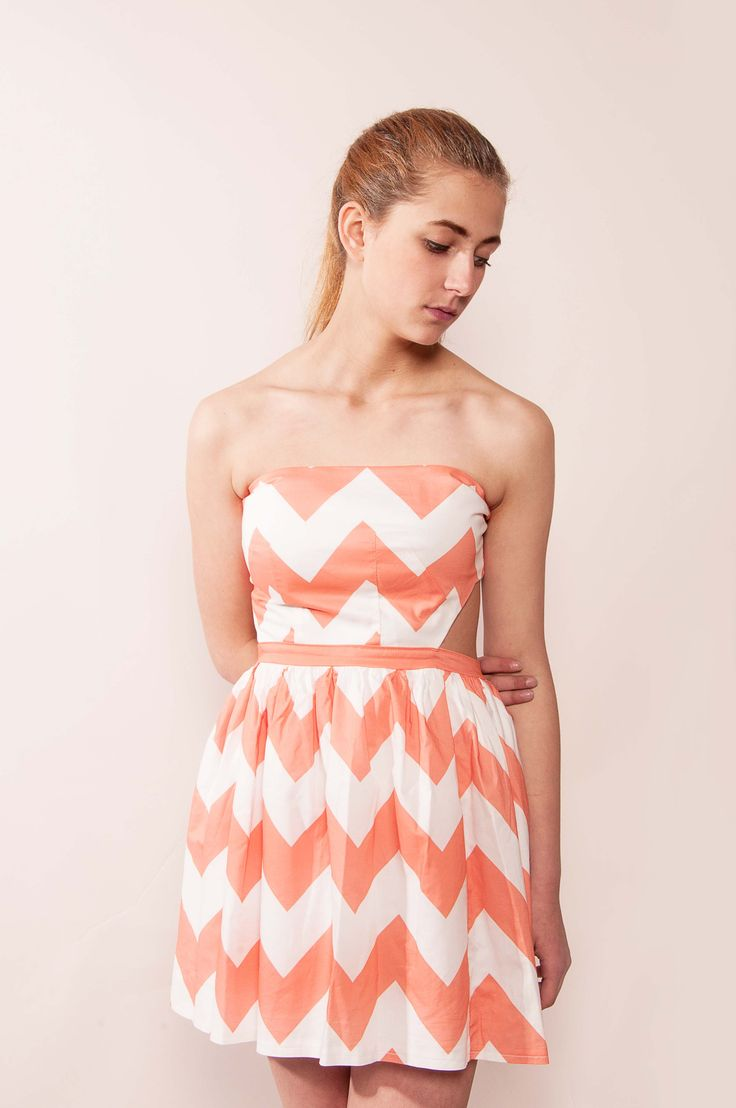 Coral dress www.frenchtouchapparel.com