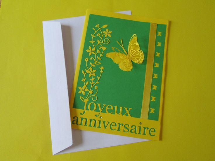 Carte scrapbooking Joyeux Anniversaire : Cartes par les-petits-papiers-de-marie