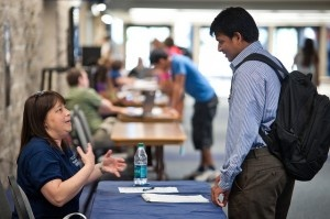 How to Stand Out at Campus Job Fairs: http://talentegg.ca/incubator/2012/09/05/stand-out-university-college-campus-job-fairs/#
