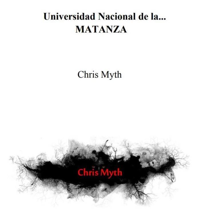 Universidad nacional de la Matanza - de Chris Myth #Terror #Relatobreve #Relato #Relatocorto #Obrabreve #Horror #Suspenso