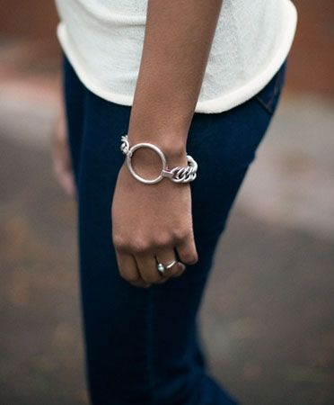 Silver Karma Bracelet