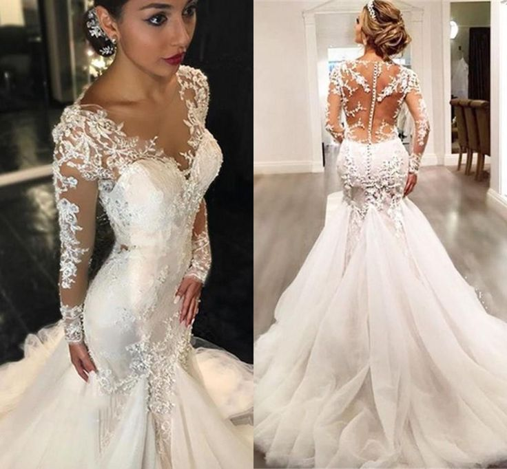 Trumpet Style Wedding Dress - Plus Size Dresses for Wedding Guest Check more at http://svesty.com/trumpet-style-wedding-dress/
