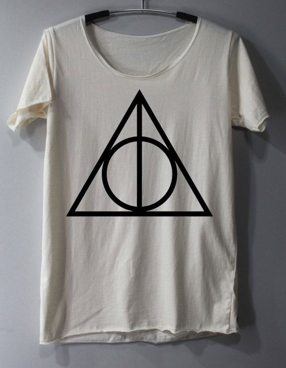 DEATHLY HALLOWS Shirt Harry Potter Shirt TShirt by ThinkingGallery