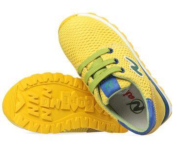 Gele Naturino kinderschoenen Wall sneakers