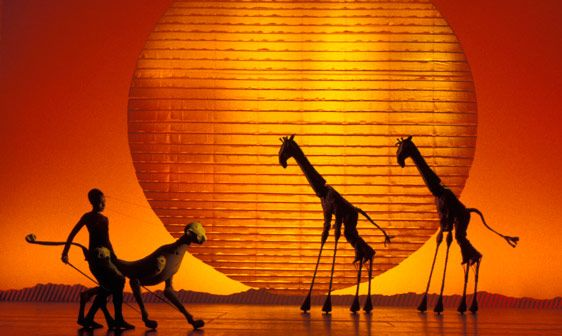 THE LION KING MUSICAL~Saw it several times; once with Jeff in Dallas.