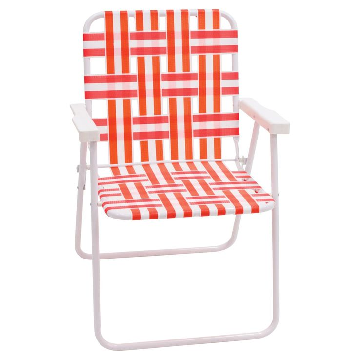 • Durable aluminum construction<br>• Bright nylon straps<br>• Water resistant, scratch resistant, weatherproof, fade resistant<br><br>With a nod to midcentury modern patio furniture, the Outdoor Webstrap Folding Chair will enhance your décor on your patio or deck. Totally comfy seating for warm-weather days, friends and family will enjoy a lazy afternoon together.