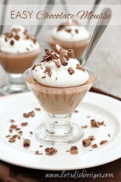 A decadent chocolate mousse recipe with just four ingredients. Dessert has never been easier!