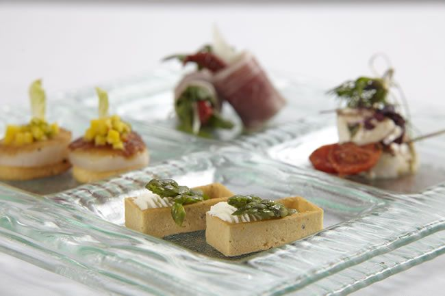 Quirky wedding canapés will really get the guests talking!