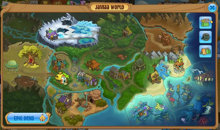 The beautiful map AJHQ has given us showing the lands of Jamaa.
