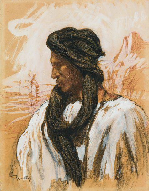 Henri Pontoy - Homme du sud marocain de profil